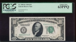 Fr. 2000-K 1928 $10  Federal Reserve Note Dallas PCGS 63PPQ K00934714A