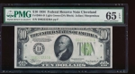 Fr. 2004-D 1934 $10  Federal Reserve Note Cleveland LGS PMG 65EPQ D06223230A