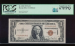 Fr. 2300 1935A $1  Hawaii PC block PCGS 67PPQ P33468434C