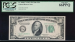 Fr. 2008-G 1934C $10  Federal Reserve Note GD block Wide PCGS 66PPQ G45719580D