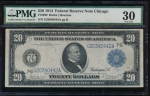 Fr. 990 1914 $20  Federal Reserve Note Chicago PMG 30 G20340442A