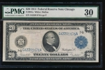 Fr. 991a 1914 $20  Federal Reserve Note Chicago PMG 30 G43391474A