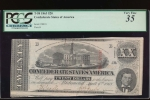 Fr. T-58 1863 $20  Confederate  PCGS 35 comment 58818