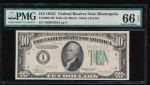 Fr. 2008-I 1934C $10  Federal Reserve Note Wide, Minneapolis PMG 66EPQ I40204563A
