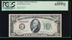 Fr. 2008-G 1934C $10  Federal Reserve Note GD block Wide PCGS 65PPQ G45719581D