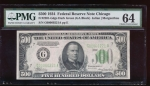 Fr. 2201-G 1934 $500  Federal Reserve Note Chicago PMG 64 G00060221A