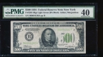Fr. 2201-B 1934 $500  Federal Reserve Note New York LGS PMG 40 comment B00044186A