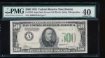 Fr. 2201-A 1934 $500  Federal Reserve Note Boston PMG 40 comment A00043443A