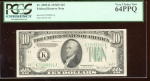 Fr. 2009-K 1934D $10 Federal Reserve Note Dallas PCGS 64PPQ K73588901A