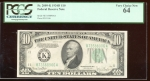 Fr. 2009-K 1934D $10 Federal Reserve Note Dallas PCGS 64 K73588906A