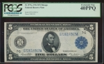 Fr. 871a 1914 $5 Federal Reserve Note Chicago PCGS 40PPQ G72618363A