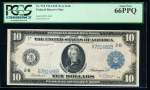 Fr. 910 1914 $10 Federal Reserve Note New York PCGS 66PPQ B781486A