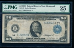 Fr. 1042 1914 $50 Federal Reserve Note Richmond PMG 25 E1328421A