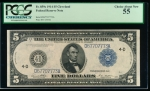 Fr. 859c 1914 $5 Federal Reserve Note Cleveland PCGS 55 D67707773A