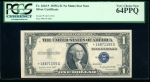Fr. 1616 1935G $1 Silver Certificate no motto, *G block PCGS 64PPQ *16871155G