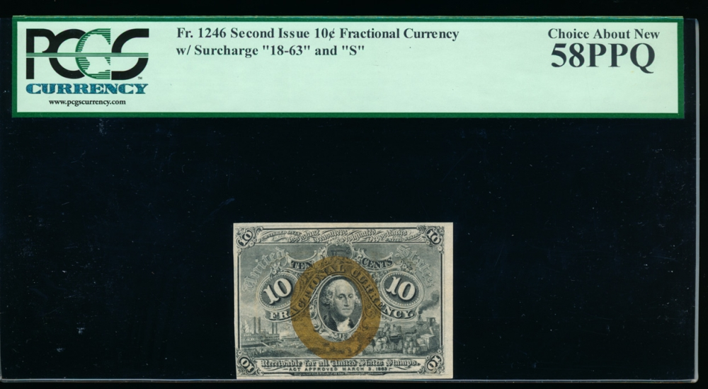 Fr. 1246  $0.10 Fractional Second Issue: \