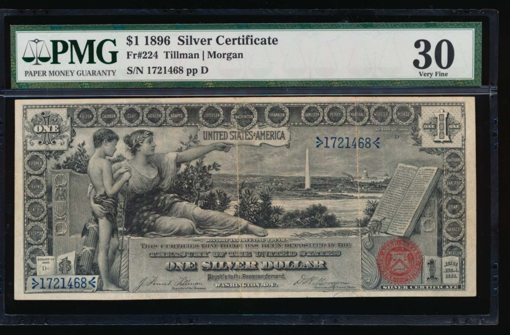 Fr. 224 1896 $1  Silver Certificate  PMG 30 1721468