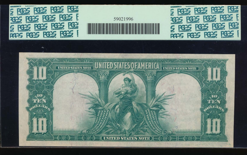 Fr. 122 1901 $10  Legal Tender  PCGS 66PPQ E35108732 reverse