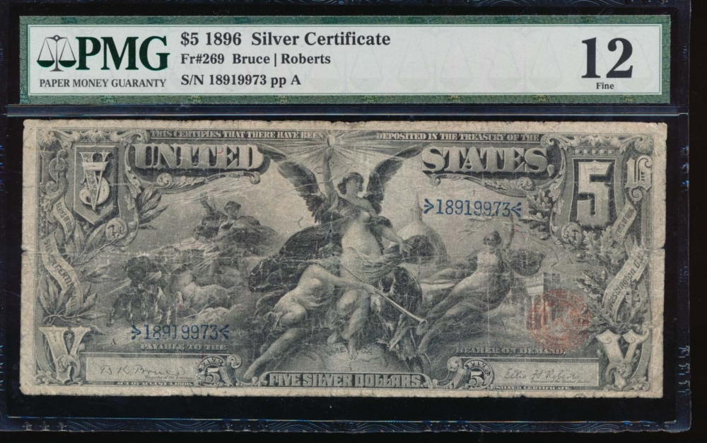 Fr. 269 1896 $5  Silver Certificate  PMG 12 18919973
