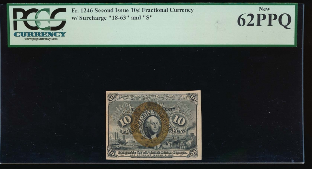 Fr. 1246  $0.10  Fractional Second Issue: