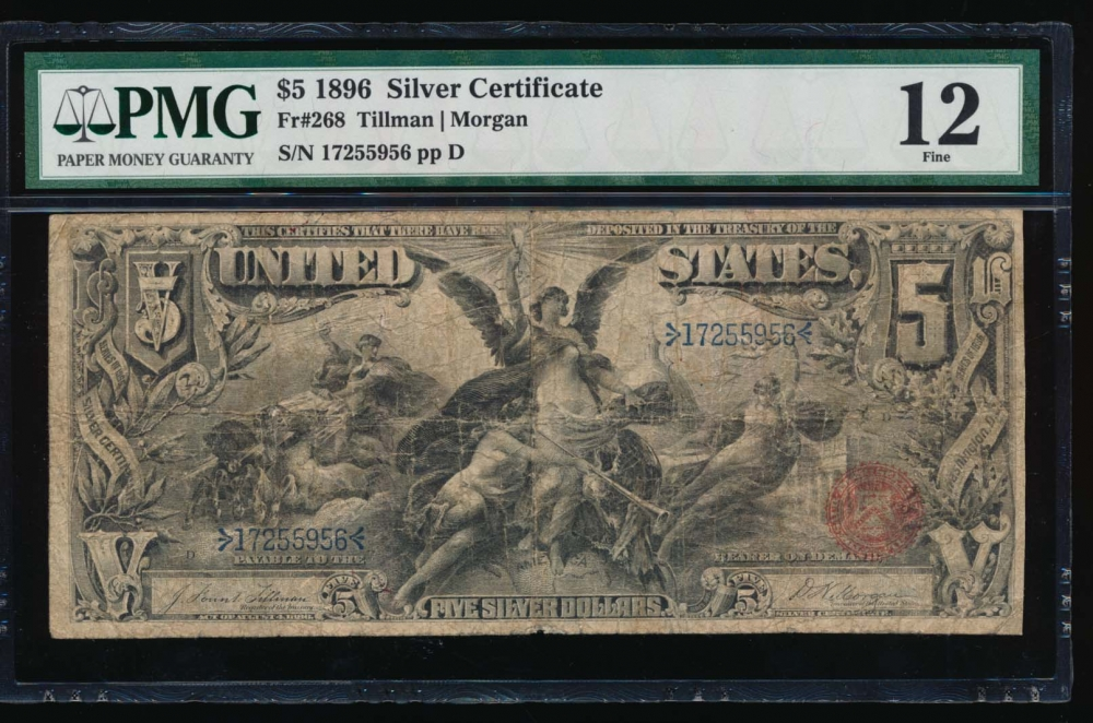 Fr. 268 1896 $5  Silver Certificate  PMG 12 17255956
