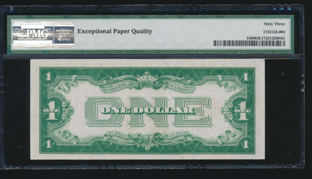 Fr. 1500 1928 $1  Legal Tender  PMG 63EPQ A01774348A reverse