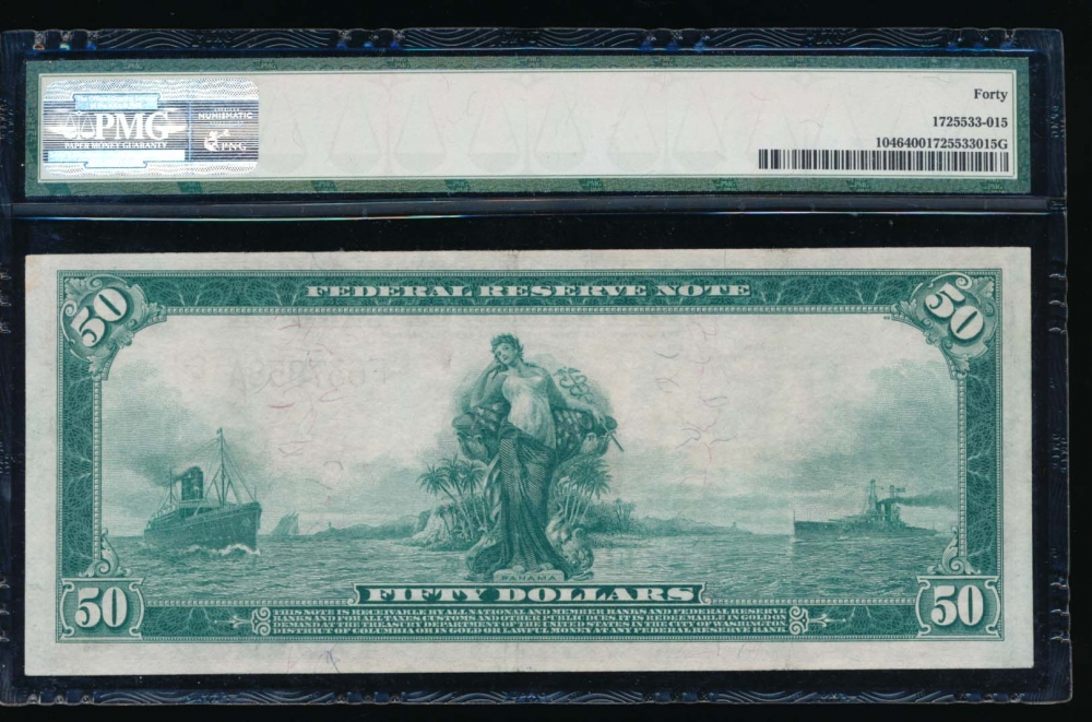 Fr. 1046 1914 $50  Federal Reserve Note Atlanta PMG 40 F637858A reverse