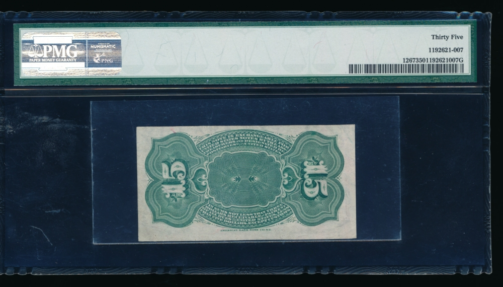 Fr. 1267  $0.15  Fractional Fourth Issue: Watermarked Paper, 40mm seal PMG 35 no serial number reverse