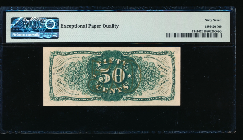 Fr. 1341  $0.50  Fractional Third Issue: Green Back, Number