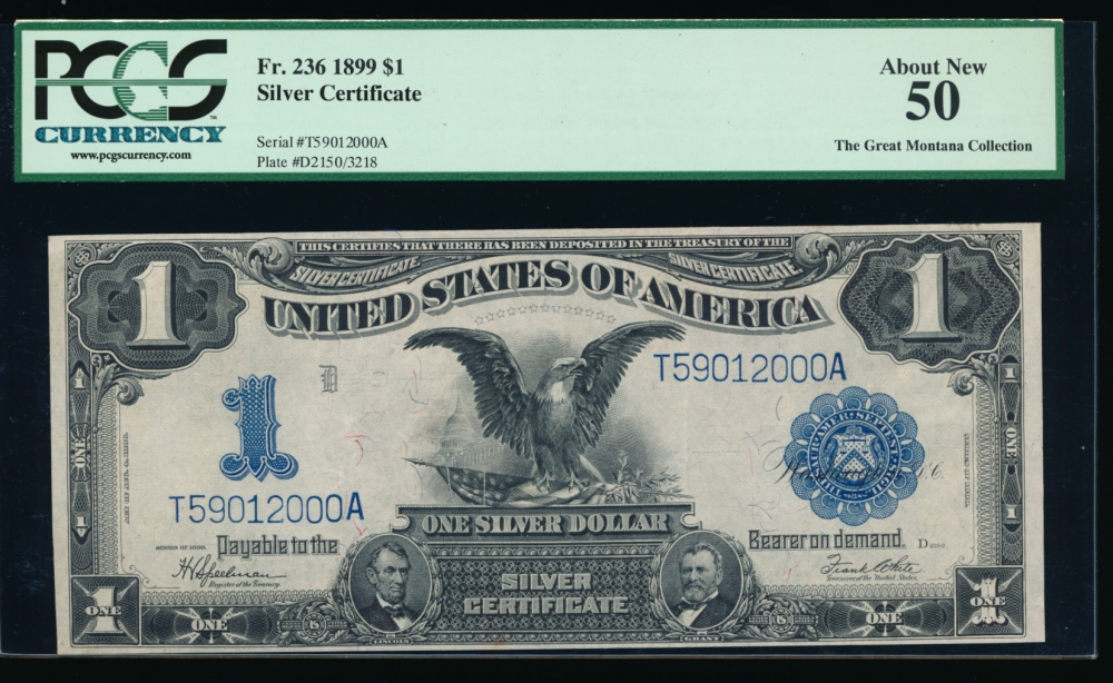 Fr. 236 1899 $1  Silver Certificate  PCGS-C 50 T59012000A
